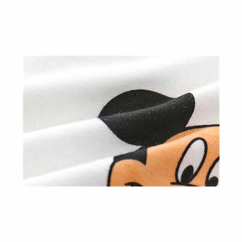 Новый стиль, Детский боди для новорожденных, пижама, хлопковый комбинезон с рисунком Микки, комбинезон для мальчиков, платье с короткими рукавами для девочек, детский комбинезон