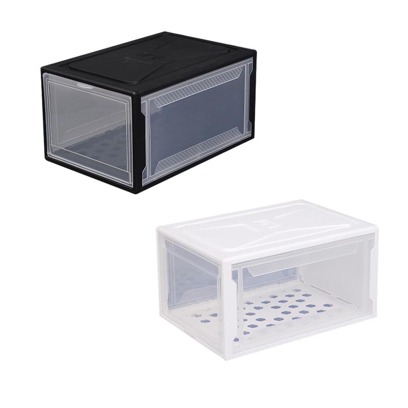 Hot XD-Plastic PP Translucent Shoe Box Multifunction Home Dust-Proof Drawer Combination Storage Boxes Men/Women Shoes Organizer