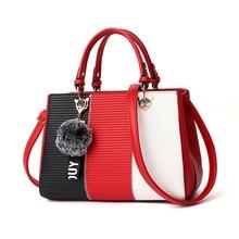 Women Hairball Ornaments Totes Patchwork Handbag Party Purse Ladies Messenger Crossbody Shoulder Bags Handbags 2020