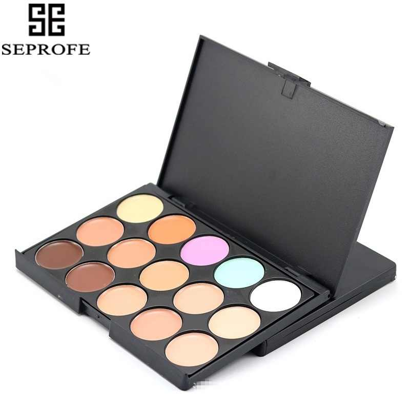 15 kleuren Gezicht Mat Concealer Waterdicht Camouflage Crème Contour Make-Up Palet Profesional Oogschaduw Concealer Palette