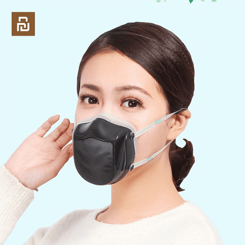 Youpin Q5S Electric Anti-haze Sterilizing Protection Face Masks Provides Active Air Supply PM2.5 Filter Respirator Masks Face