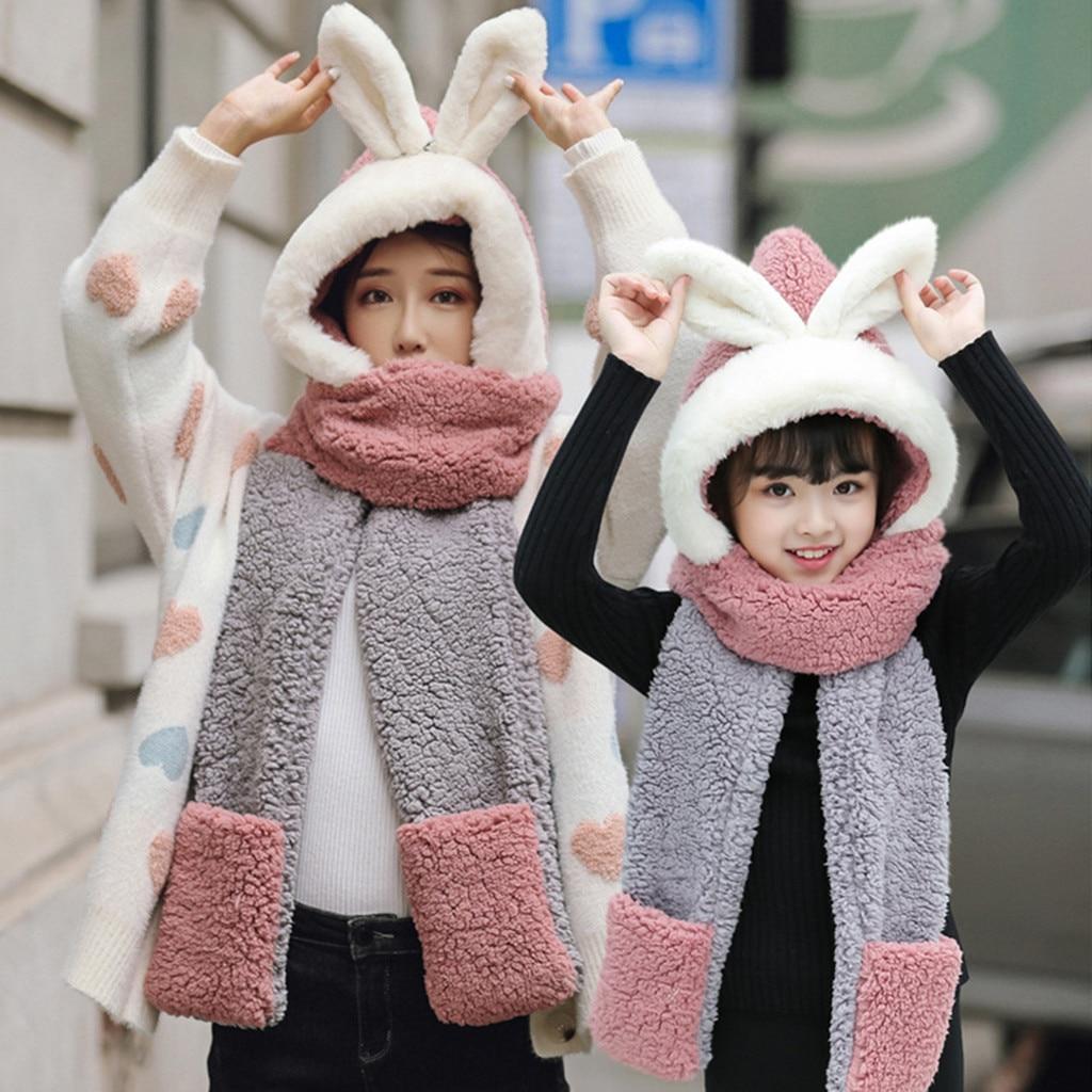 Милая детская зимняя плюшевая Толстая шапка с искусственным рисунком, наушники, теплая шапка, зимняя плюшевая меховая шапка для родителей и детей, детская Горячая Распродажа - Цвет: B
