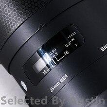 Para a lente da pele decalque protetor sigma 35 f1.4 e montagem anti risco lente casaco capa envoltório caso