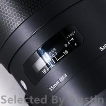 สำหรับเลนส์รูปลอกProtector Sigma 35 F1.4 E Mount Anti Scratchเลนส์Wrap Case