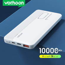 VOTHOON Power Bank 10000mAh Portable Charging PowerBank Type C USB Fast Charger External Battery Charger For iPhone Samsung