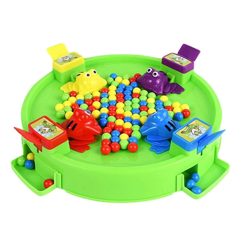 Feeding Frog Family Party Game Popular Toys For Children Parent-Child Interaction Funny Toys Novelty Gag Gifts For Kids,C
