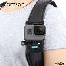 Vamson для Gopro 8 7 6 5 Аксессуары для занятий рюкзак зажим вращающийся на 360 градусов фиксированный кронштейн база для DJI OSMO для Yi 4K VP526