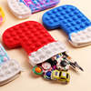 New Christmas Stocking Pop Popet Silicone Push Bubble Toy Kids Sensory Stress Reliever Children Christmas Toys Fidget Toys Gifts