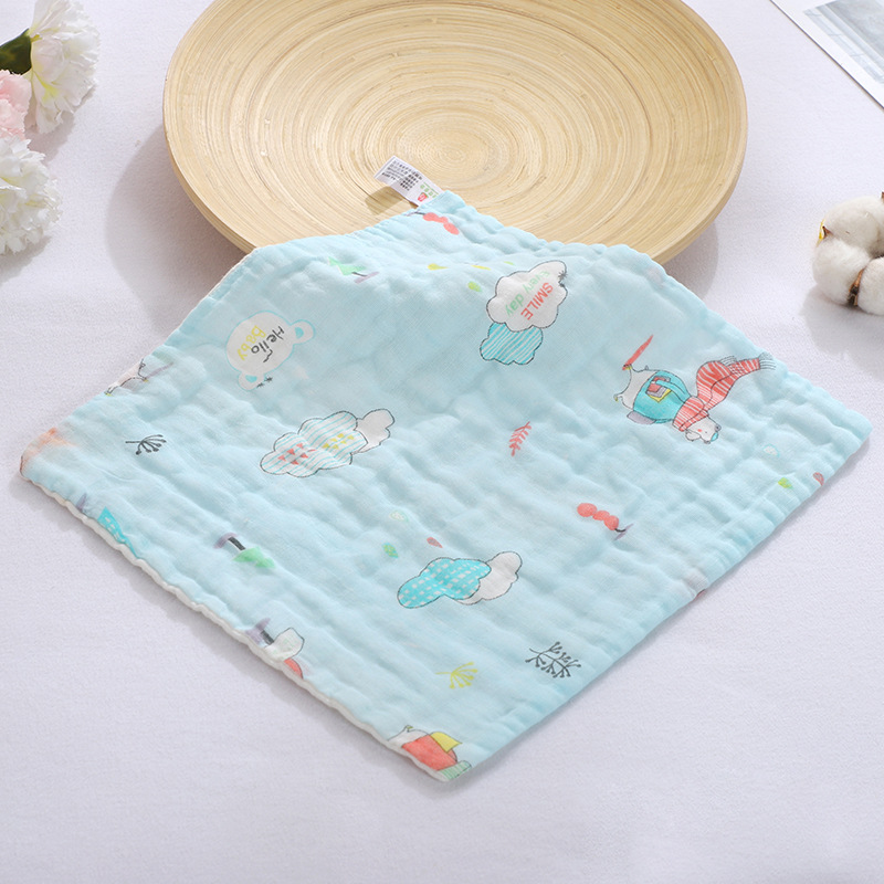 Baby Towel Handkerchief Hand Bath Feeding Gauze Cotton Towel Square Towel Cloth For Boys And Girls Wipes 30 * 30 Cm
