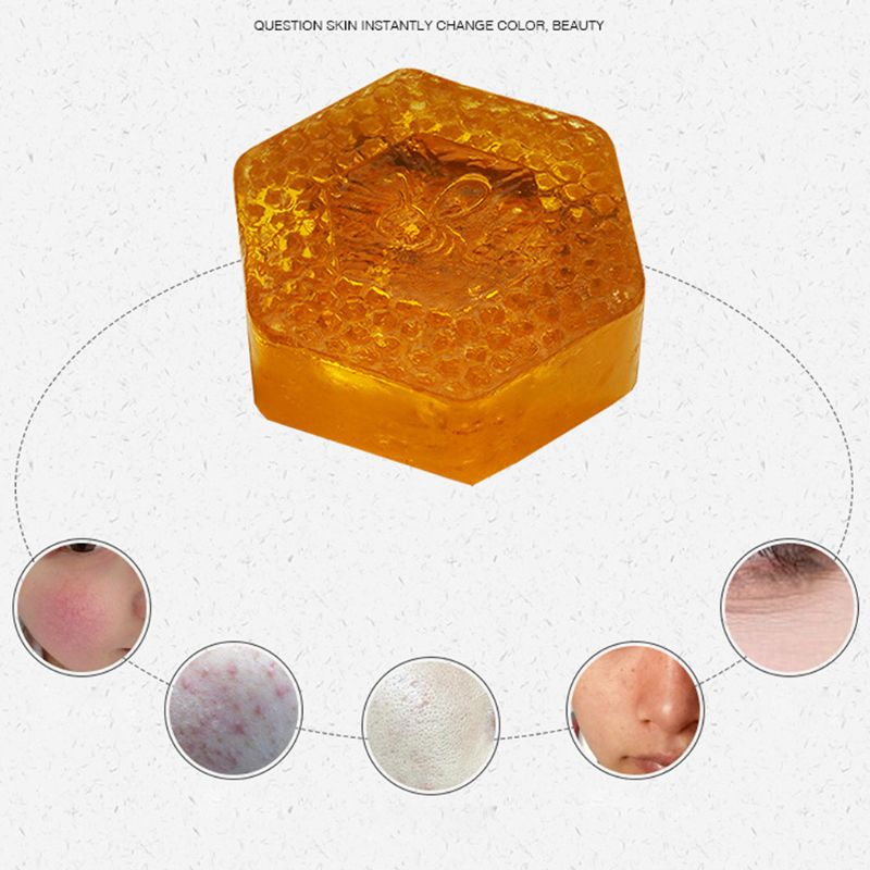 100g Handmade Honey Soap Deep Cleansing Face Whitening Moisturizing Oil-Control