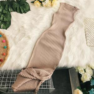 Gagarich Sexy Women Bodycon Dress Slim Solid O-neck Knitted Long Stretch Ladies Dresses 2019 Summer Vestidos