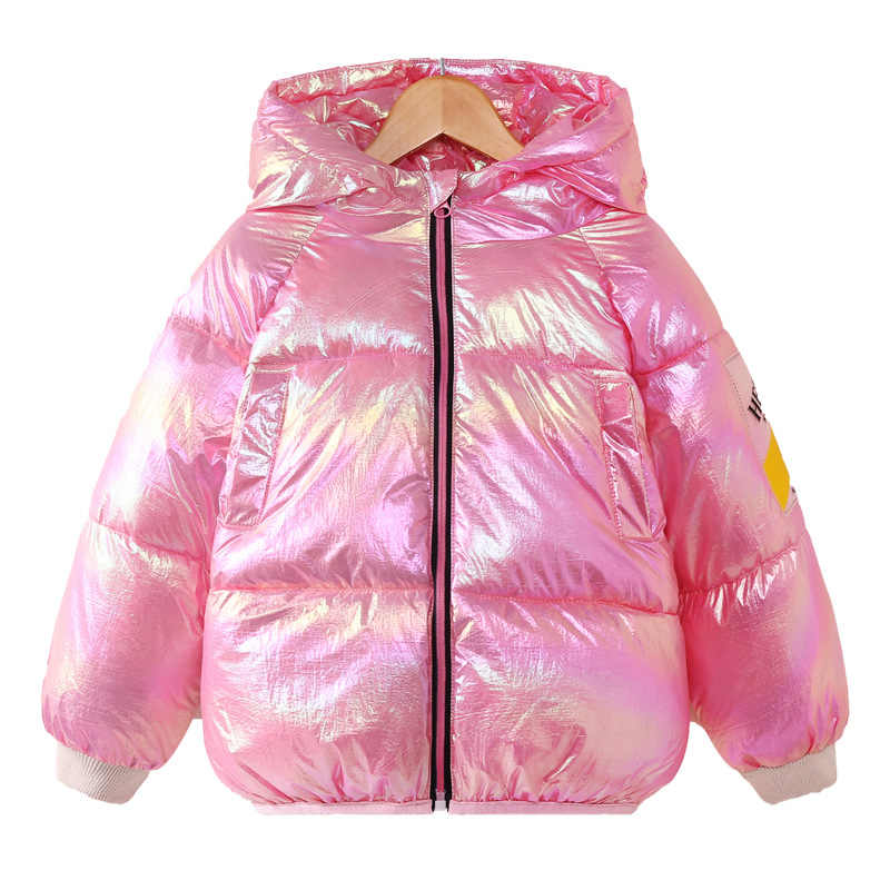 New Kids Snowsuit Fashion Girls Thickening Hooded Candy Color Children Boys Clothing Winter Warm Outerwear Jackets Unisex