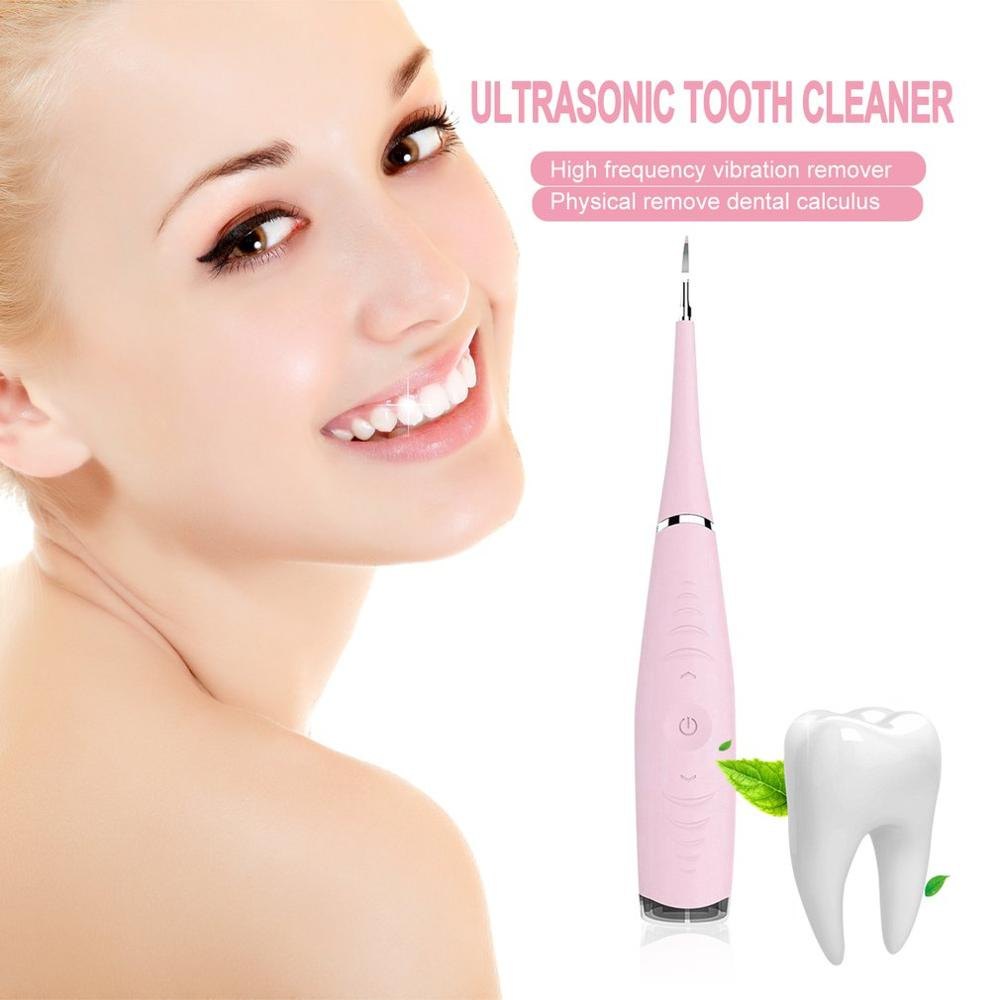 Usb Recharge Vibrition Sonic Dental Scaler Tooth Calculus Remover Tooth Stains Tartar Cleaner Hygiene Dentist Tool Whiten Teeth