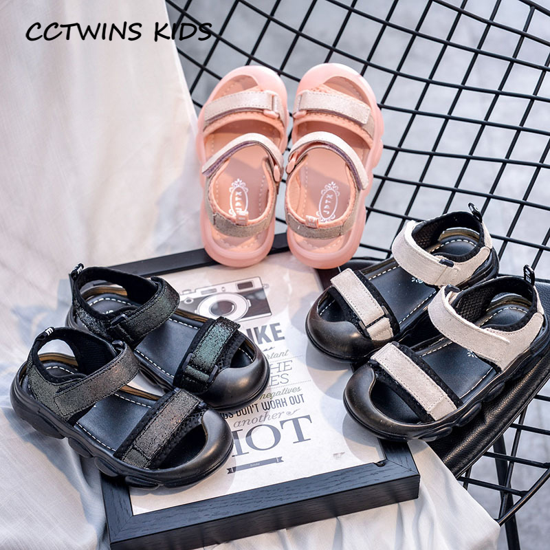 CCTWINS Kids Shoes 2020 Summer Children Fashion Casual Shoes Baby Girls Brand Beach Sandals Boys Black Soft Flat BS445