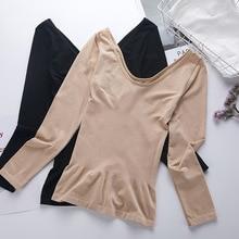 winter termal shirt  body sculpting women slim autumn underwear neck long warm thermal tops for