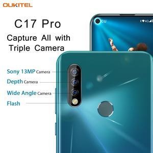 Image 2 - OUKITEL C17 Pro 듀얼 4G 안드로이드 9.0 스마트 폰 지문 페이스 ID 핸드폰 6.35 4gb 64GB 19:9 휴대 전화 Octa 코어 3900mAh