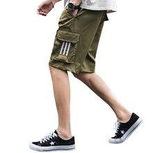 De los hombres de verano pantalón corto Casual Pants Streetwear Hombre Pantalones Cortos de la marca clásica bolsillo de algodón Pantalones Cortos sueltos Pantalones de los hombres Pantalones Cortos