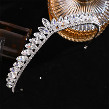 New Silver Color Crystal Tiaras And Crowns For Women Queen Rhinestone Princess Diadems Wedding Bridal Hair Accessories