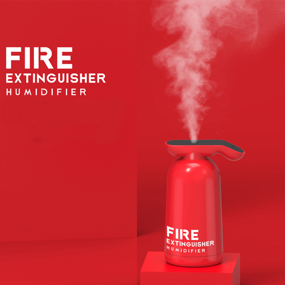 Creative Fire Extinguisher Air Humidifier USB Mist Maker Fogger 180ML Ultrasonic Cool Water Aroma Diffuser For Home Car Purifier