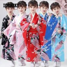 Robe japonaise nationale traditionnelle pour filles, Kimono, motif Floral yukata, homme japonais, Cosplay