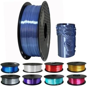 Image 1 - 1.75mm Silk Pla Filament 250g Shiny Metal like 0.25kg Black Red etc. 19 Colors Silk 3D Printer Filament for DIY Artwork Printing
