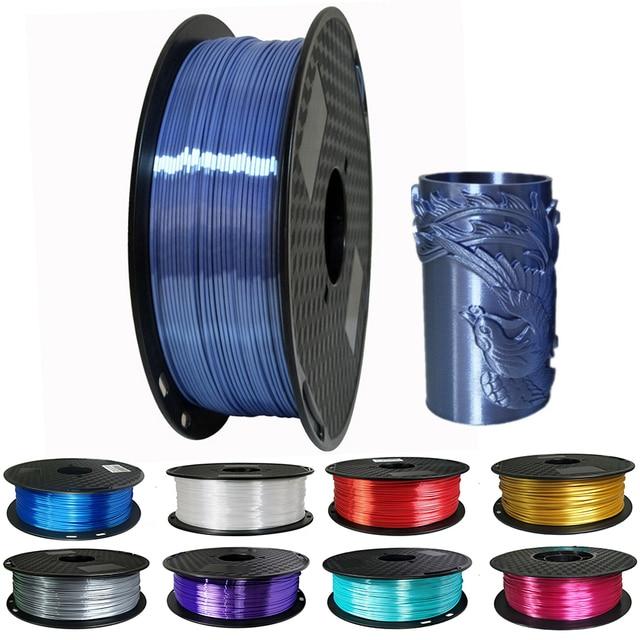1.75mm Silk Pla Filament 250g Shiny Metal like 0.25kg Black Red etc. 19 Colors Silk 3D Printer Filament for DIY Artwork Printing
