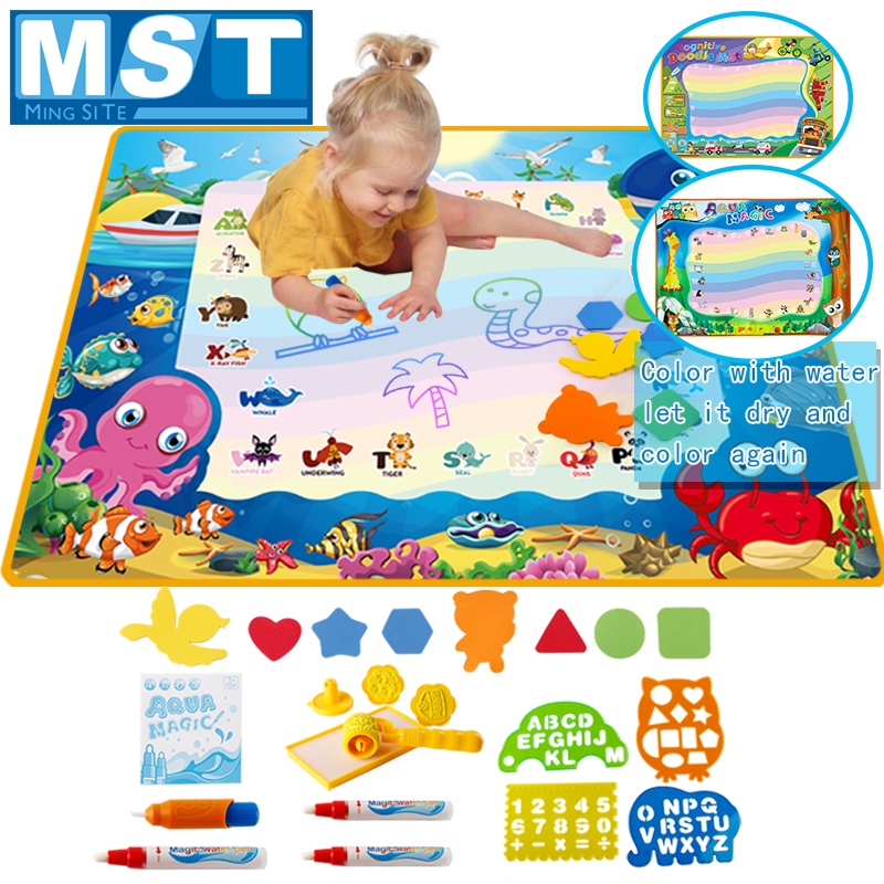 Magic Water Drawing Mat Child Coloring Set Magic Water Pens Painting Toys Drawing Board Writing Educational Toys For Creativity