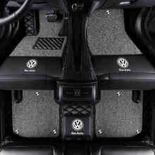 Автомобильный коврик для volkswagen VW polo 9n Jetta Magotan Sagitar Passat bora phaeton, аксессуары, напольный коврик, ковры