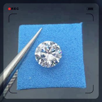 7mm Loose Moissanite 1.2ct D Color Round Brilliant Excellent Cut Loose Stone VVS1 moissanite jewelry ring material