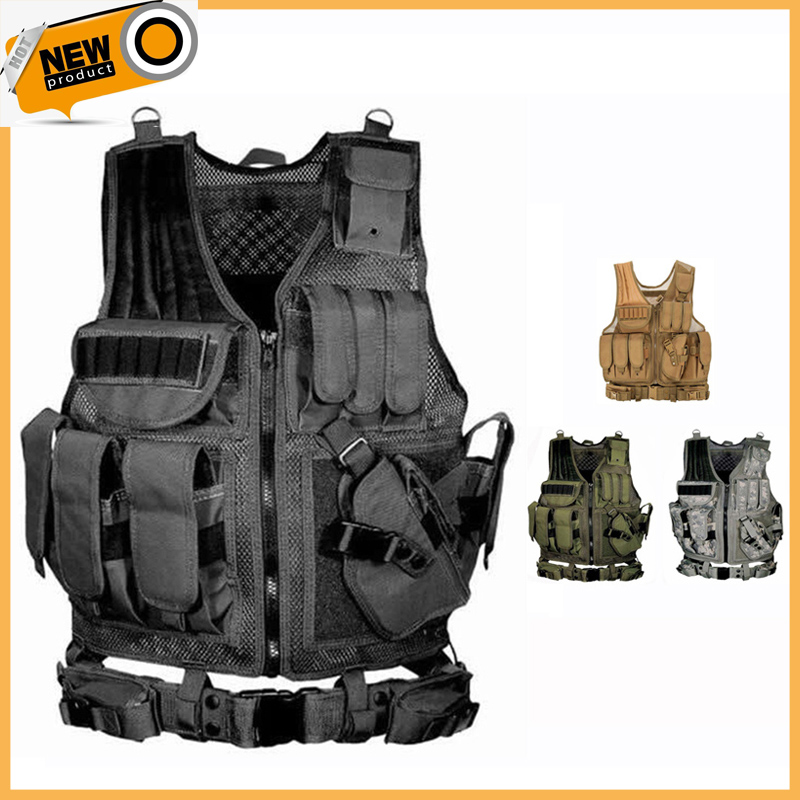 2021 Tactical Equipment Military Molle Vest Hunting Armor Vest Army Gear Airsoft Paintball Combat Protective Vest For CS Wargame