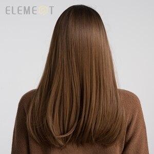 """Image 3 - عنصر 18 """"شعر مستعار اصطناعي طويل مع الانفجارات الجذر الداكن أومبير اللون الطبيعي العنوان مقاومة للحرارة خصلات الشعر المستعار للنساء"""
