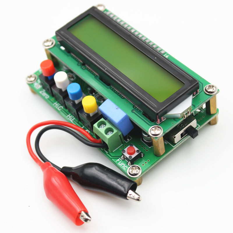Lc100- Digital LCD High Precision Inductance Capacitance Meter Meter Capacitor Tester Frequency 1Pf-100Mf 1Uh-100H Lc100-+Te