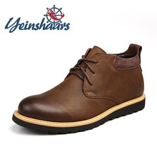 New Mens Shoes Casual Leather Boots Vintage Lace-up Solid Walking Boots Classic Jeans Boots Designers Luxury Shoes Botas Brahma