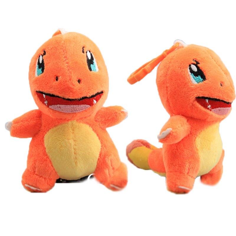 12Cm Pokemon Charmander Plush Toys Soft Doll Key Chain Ring Pendant Bag Strap