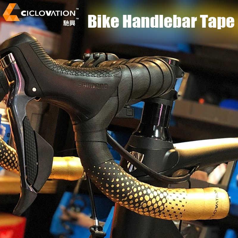 CICLOVATION Velvet Touch Road Handlebar Tape 2.5Mm Black//Red Bike