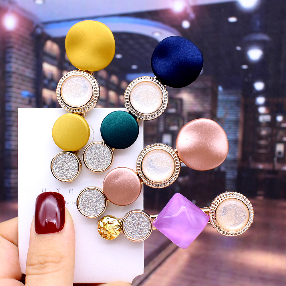 2019 Fashion Hair Clips For Women Fashion Sweet Girl Simple Korean Style Hairpin Alloy BB Handmade INS Headband Hair Accessories