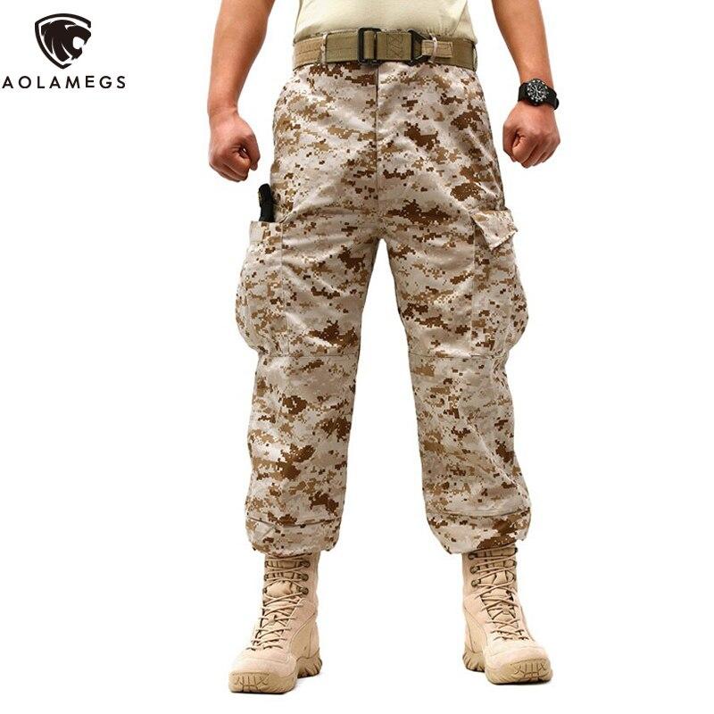 Aolamegs Männer Militär Hosen Feste Taktische Militärische Armee Kampf Cargo Camouflage Hosen Hosen Beiläufige Lose Hosen für Männliche