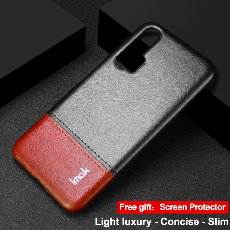 Honor20 Case Honor 20 Pro Case IMAK Concise Leather Back Shell for Funda Huawei Honor 20 Case Honor 20Pro Screen Protector Cover|Half-wrapped Cases| |  - title=