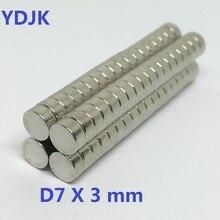 10 50 100 200 500PCS/LOT Disc Magnet 7*3  N35 MAGNET 7x3  NdFeB magnets 7 x 3