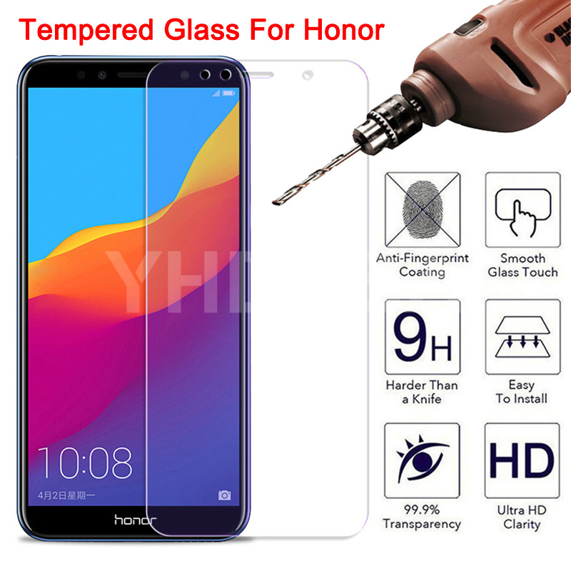 9H Protective Glass For Honor 7A 7C 7X 7S Tempered Screen Protector Honor 8 Lite 8X 8A 8C 8S 9X Safety Glass Protection Film