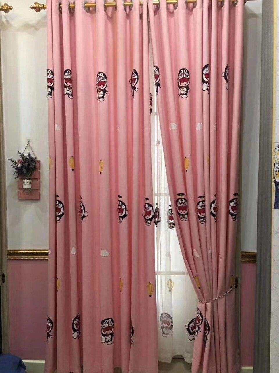Cortinas opacas para niños, de color rosa y azul, para dormitorio de niña, cortinas para sala de estar con dibujos animados ambientales Guirnalda para exterior de luces LED navideñas de 4,6 M, guirnalda para luces de hadas, cortina de carámbano para Calle de 0,4 a 0,6 m, decoración para el hogar y Jardín de 110 a 220V