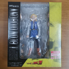 Anime dragon ball shf android no.18 ação figura brinquedos cyborg android no.18 e juventude klilyn kuririn collectible modelo boneca presente