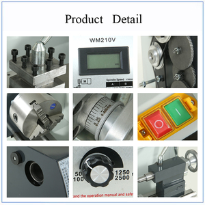 Image 4 - Brushless Motor Metal Lathe 2500RPM 750W Mini Bench Lathe Variable Spindle Speed Lathe Machine for Mini Precision Parts Process
