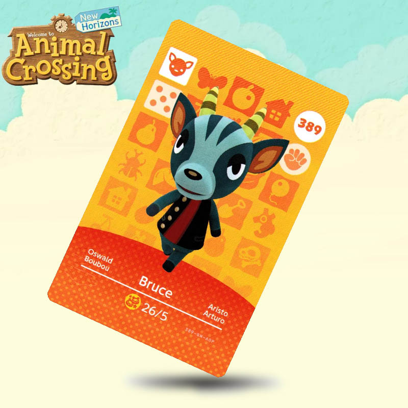 389 Bruce Animal Crossing Card Amiibo Cards Work For Switch NS 3DS Games