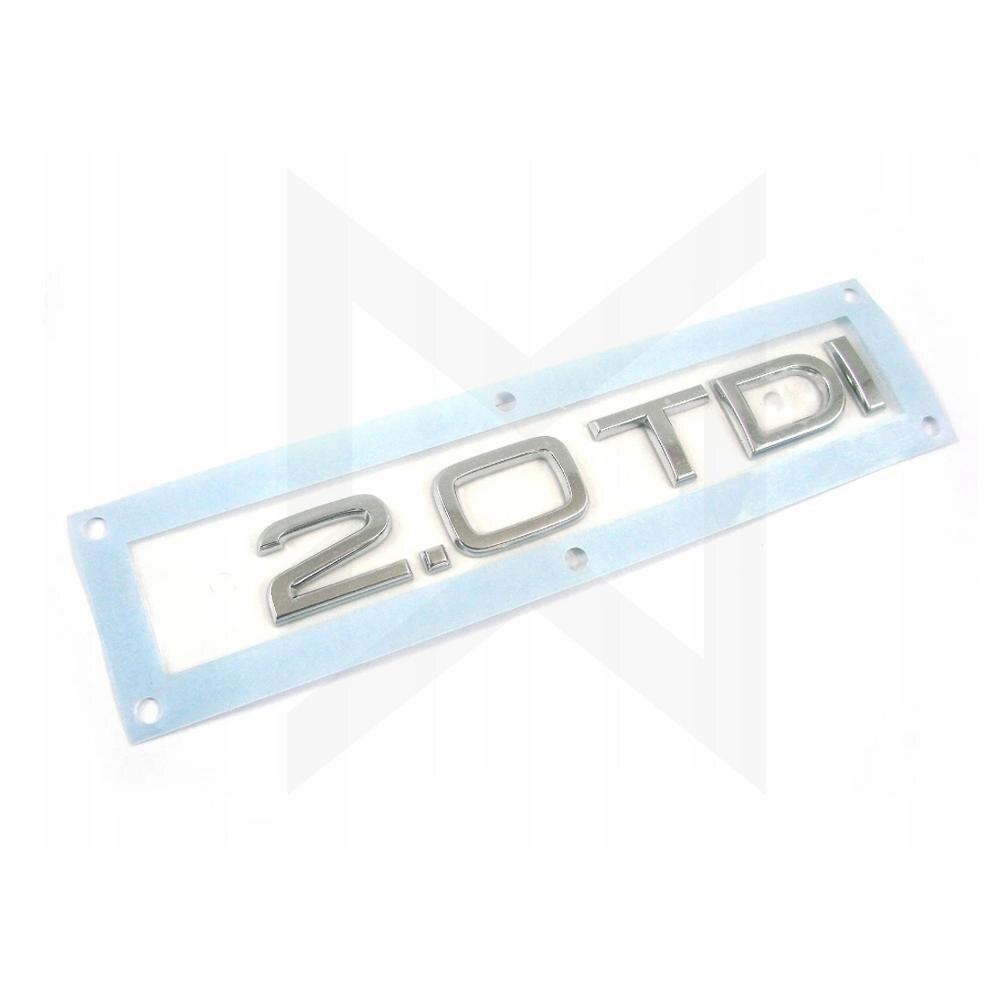 1X хромированный серебристый ABS 2,0 TDI 2,7 TDI 3,0 TDI автомобильный корпус задний багажник эмблема значок наклейка для Audi аксессуары