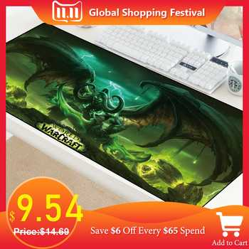 XL World of Warcraft Gaming Mouse Pad Large Customized Laptop Gamer Mousepad Speed Rubber Desktop Notebook Mat 70x40cm for LOL - DISCOUNT ITEM  25% OFF All Category