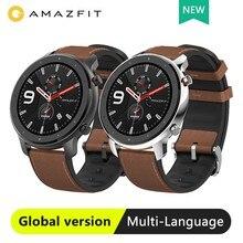Presente Grátis RedmiAirdots Coupon $ 5 Versão Global Amazônia GTR 47mm 42mm Smartwatch Relógio Inteligente Xiaomi Huami 12 24 Modos 5ATM GPS À Prova D' Água Esportes dias Bateria AMOLE