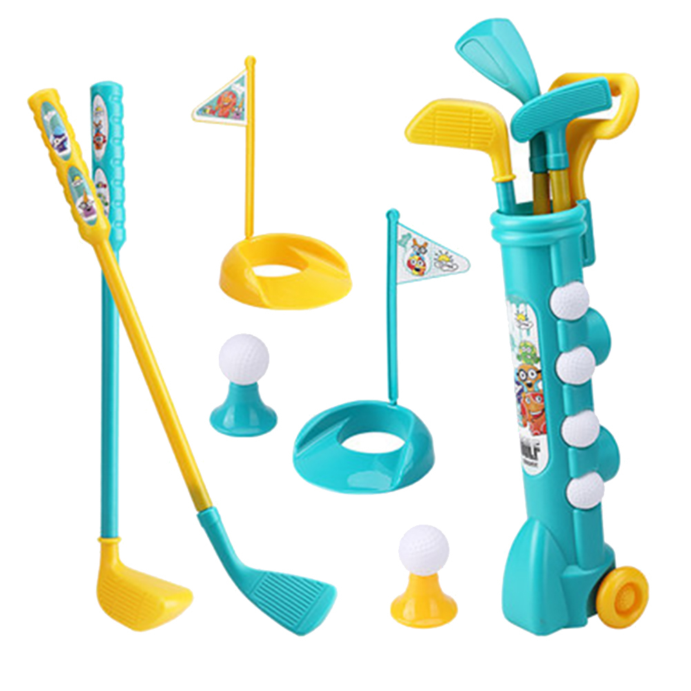 Children's Parent-child Sports Toy Golf Set Cue Interactive Game Body Shoulder Ball Sports Fitness Equipment