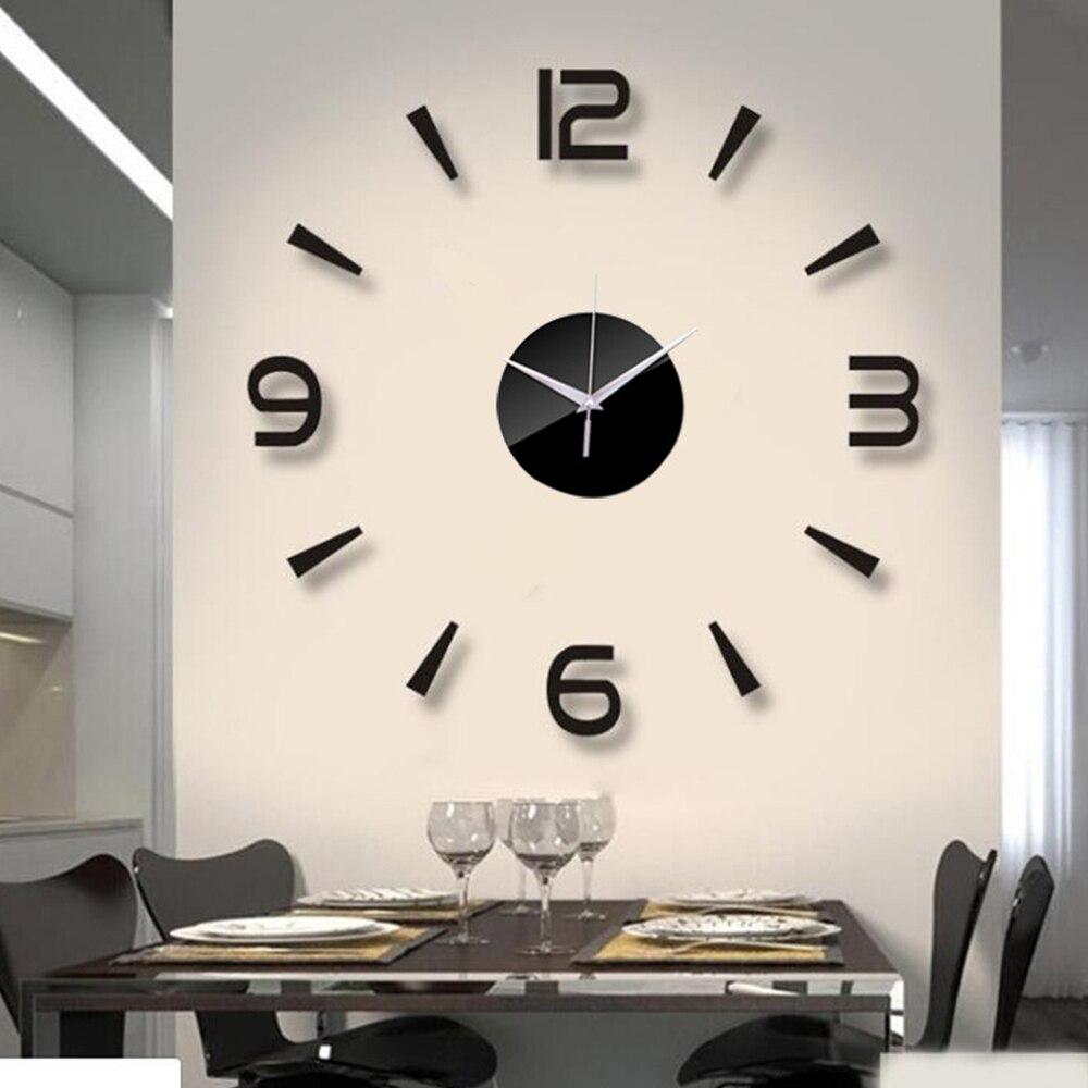 3D Wall Clock Acrylic Mirror Wall Stickers Modern DIY Wall Clocks Home Decor Living Room Quartz Needle reloj de pared 2020 NEW 2