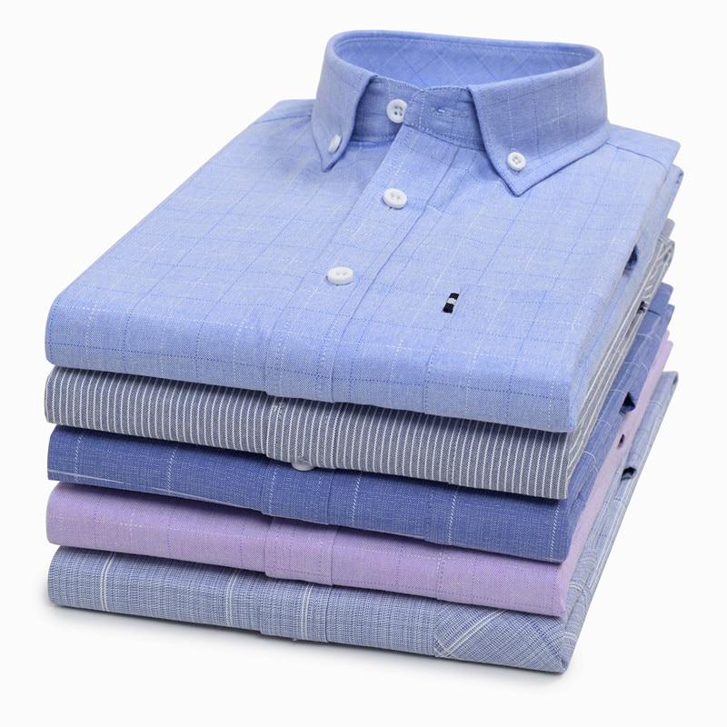 Classic Plus Size Men's Business Short Sleeve Shirt 2020 Summer Fashion Casual Brand Plaid Shirt Male 5XL 6XL 7XL 8XL 9XL 10XL(China)